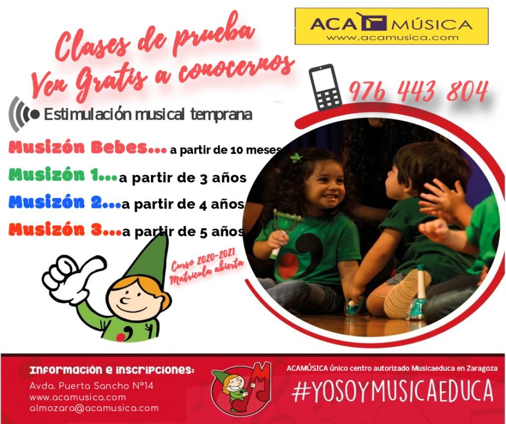Estimulación musical temprana en Zaragoza