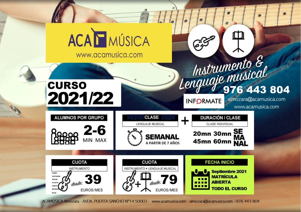 Aprende Música en Zaragoza