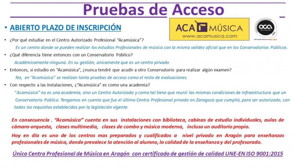 Conservatorio Privado Profesional en Zaragoza